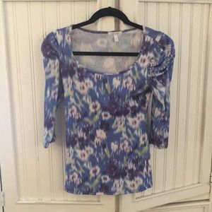 Scoop neck cotton blouse